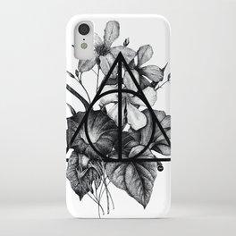 black flowers iPhone Case