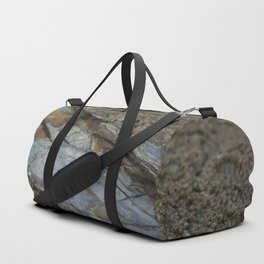 Beautiful Natural Rock Texture Among Barnacles Duffle Bag