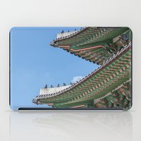 korea iPad Cases featuring Gyeongbokgung Palace Lines_South Korea by Jennifer Stinson