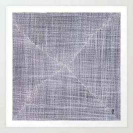 Ink Weaves: White Quartz Art Print