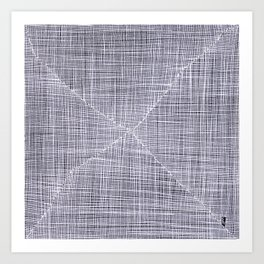 Ink Weaves: White Quartz Art Print
