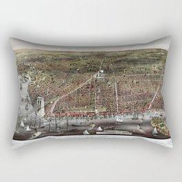 Brooklyn map vintage Rectangular Pillow