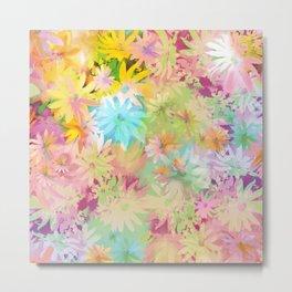 A bed of flowers. Metal Print