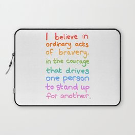 Ordinary Acts of Bravery - Divergent Quote Laptop Sleeve