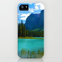 Maligne Lake in Jasper National Park, Canada iPhone Case