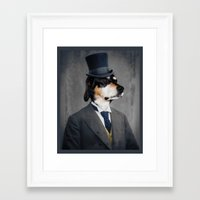 ben giles Framed Art Prints featuring Ben by The Lonely Pixel