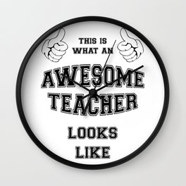 AWESOME TEACHER Wall Clock