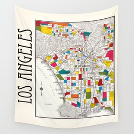 Los Angeles Streets Wall Tapestry