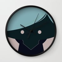 han solo Wall Clocks featuring Han Solo by Pillow Faces