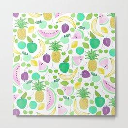 Fruit Punch Retro 2 Metal Print