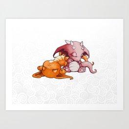 Snoozing Art Print