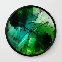 Jungle - Geometric Abstract Art Wall Clock