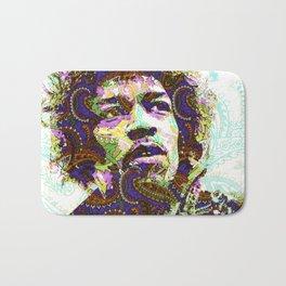 Hendrix Psychedelic Guitar Bath Mat