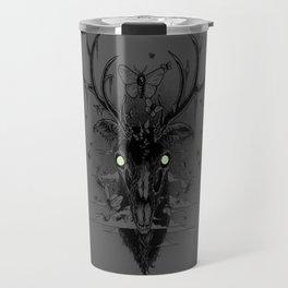Moth Eaten Deer Head - Grey Travel Mug
