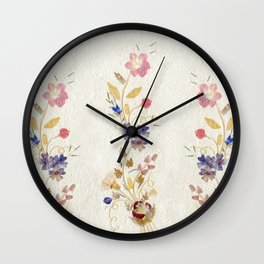 Pressed Flowers by Kathy Morton Stanion Wall Clock