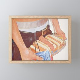 The Real American Hot Dog Framed Mini Art Print