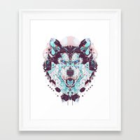 husky Framed Art Prints featuring husky by yoaz