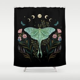 Luna and Forester Shower Curtain