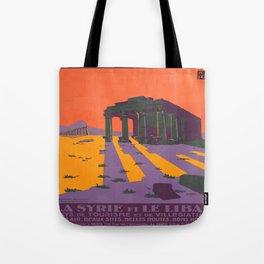 Vintage poster - Syria Tote Bag