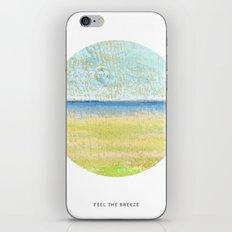 Feel the breeze iPhone Skin