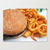 hamburger Canvas Prints featuring Hamburger by LoRo  Art & Pictures