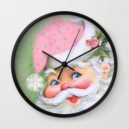 smiling retro Santa Wall Clock