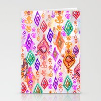 bali Stationery Cards featuring Bali Ikat  by Nikkistrange