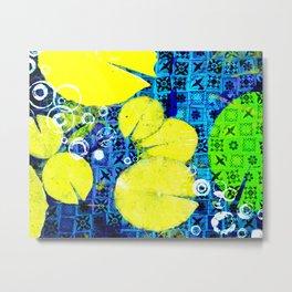 Water Lilies in Spring montage Metal Print