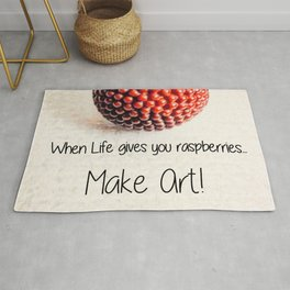 When Life Gives You Raspberries | Nadia Bonello Rug