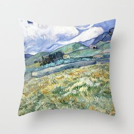 Landscape from Saint-Remy by Vincent van Gogh Throw Pillow