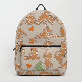 Christmas cookie yoga Backpack