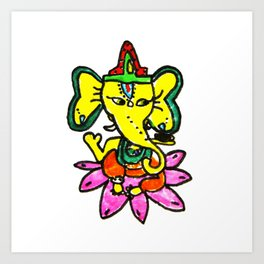 Ganesha by Elisavet Art Print