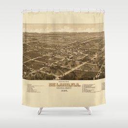 Bird's Eye View of DeLand, Florida (1884) Shower Curtain