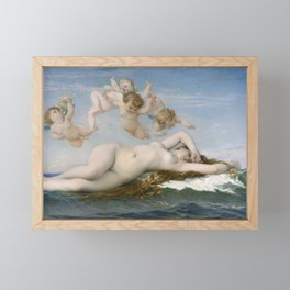 The Birth of Venus, 1863 by Alexandre Cabanel Framed Mini Art Print
