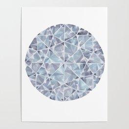 Grey Round Gem Poster