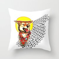 coyote Throw Pillows featuring Coyote by Renaissance Youth