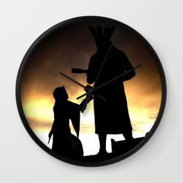 Offering to Earth Wall Clock