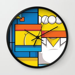Abstract Simpson Wall Clock