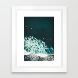 WAVES - OCEAN - SEA - WATER - COAST - PHOTOGRAPHY Framed Art Print