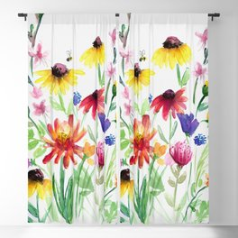 Summer Wildflowers Blackout Curtain