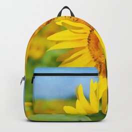 The Tallest Sunflower | Vivid Watercolor Painting Backpack