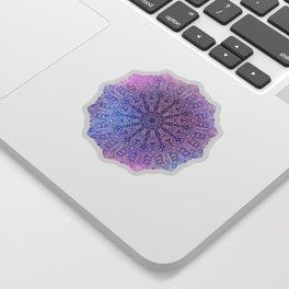big paisley mandala in light purple Sticker