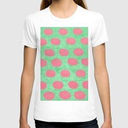 Pink and Green Polka Dots T-shirt