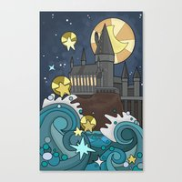 hogwarts Canvas Prints featuring Hogwarts by Lacey Simpson