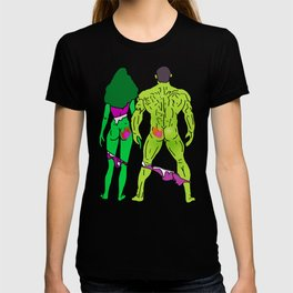 Superhero Butts Love 5 - Green T-shirt