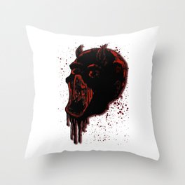 Dare to be The Devil Throw Pillow