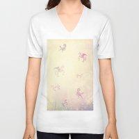 unicorns V-neck T-shirts featuring Unicorns by Bloody Diamonds Shop