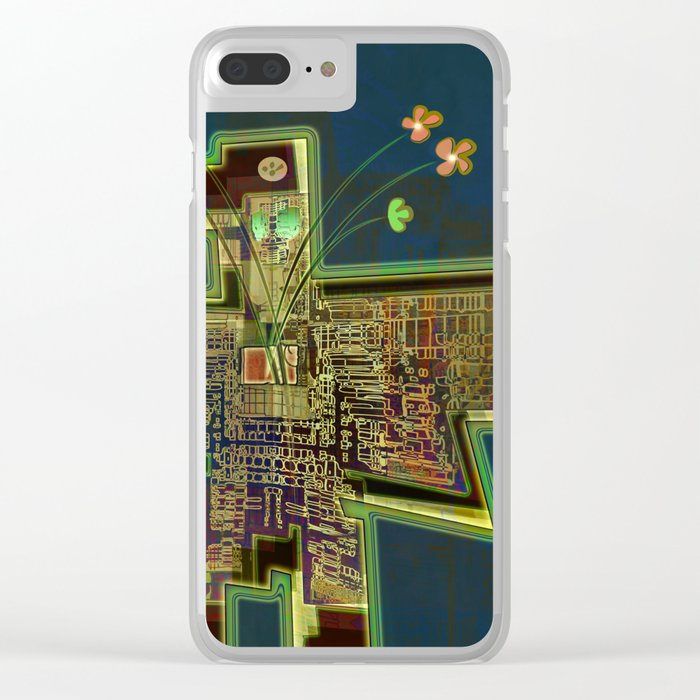 Good Vibes from the Robotic City Lab Clear iPhone Case