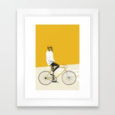 The Yellow Bike Framed Art Print