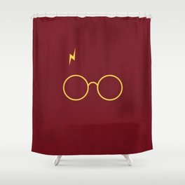 Harry Glasses Shower Curtain